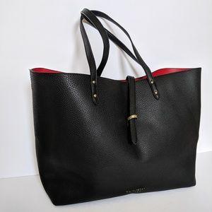 Victoria's Secret Faux Leather Black Tote Bag